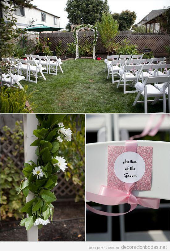 Bodas Decoracion Sencilla ~ para una boda en un jard?n peque?o, muy sencilla  Decoraci?n bodas