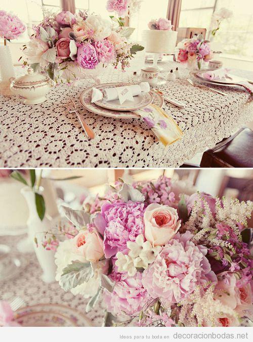 Centros mesa arreglos florales decoracion salones con for Decoracion salones