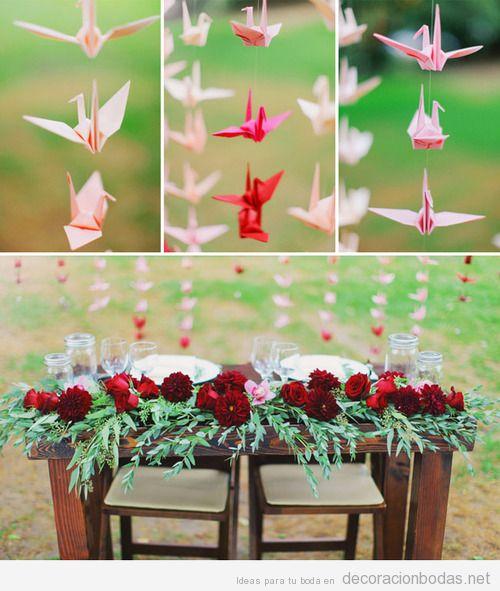 Decoracion Origami Matrimonio ~ de origami para decorar una boda en el jard?n  Decoraci?n bodas