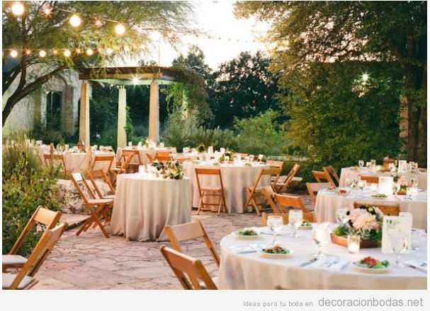 Decoraci n de boda en jard n sencillo y elegante - Decoracion de jardines para bodas ...