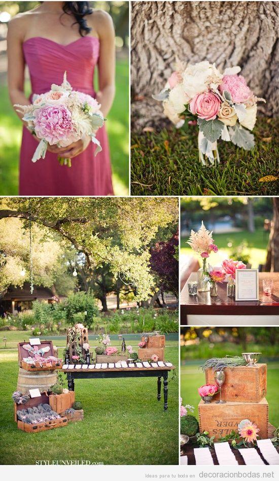 Ideas para dar un toque vintage a una boda en el jard n for Arreglos de mesa para boda en jardin