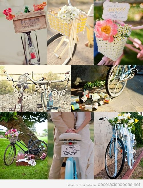 Decoracion Original Para Bodas ~ original de boda con bicicletas vintage  Decoraci?n bodas