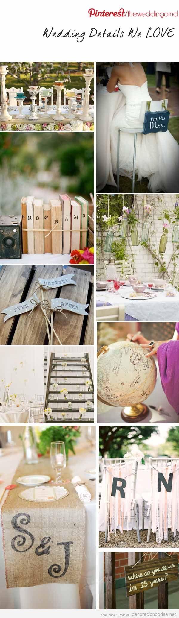 Decorci n y detalles originales para una boda con aire for Detalles decoracion boda