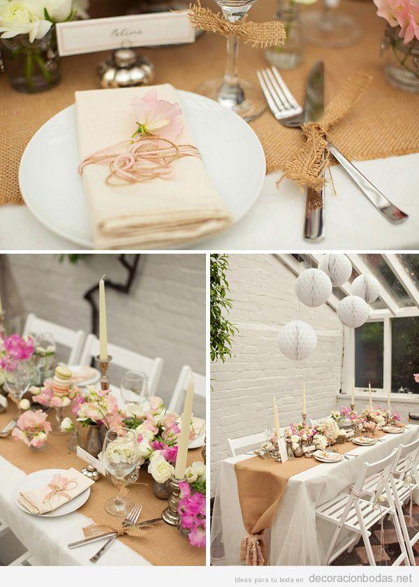 Decoracion En Telas Para Matrimonio ~ de boda con detalles en yute  Decoraci?n bodas  Decoraci?n de boda
