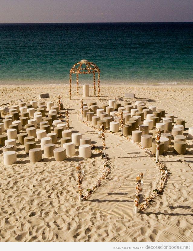 Decoración para una boda sencilla en la playa