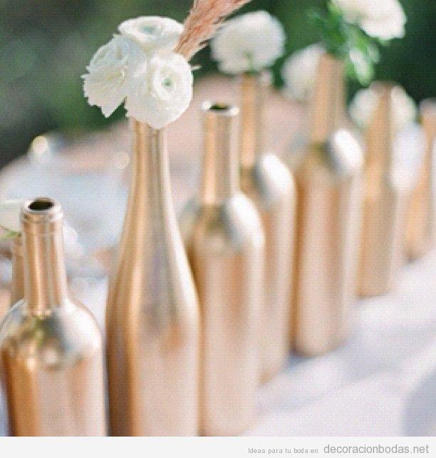 Botellas decoraci n bodas decoraci n de bodas bohemias - Decorar con botellas ...