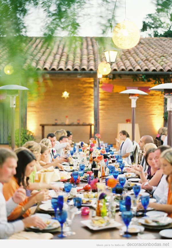 Azul decoraci n bodas decoraci n de bodas bohemias for Boda en jardin decoracion