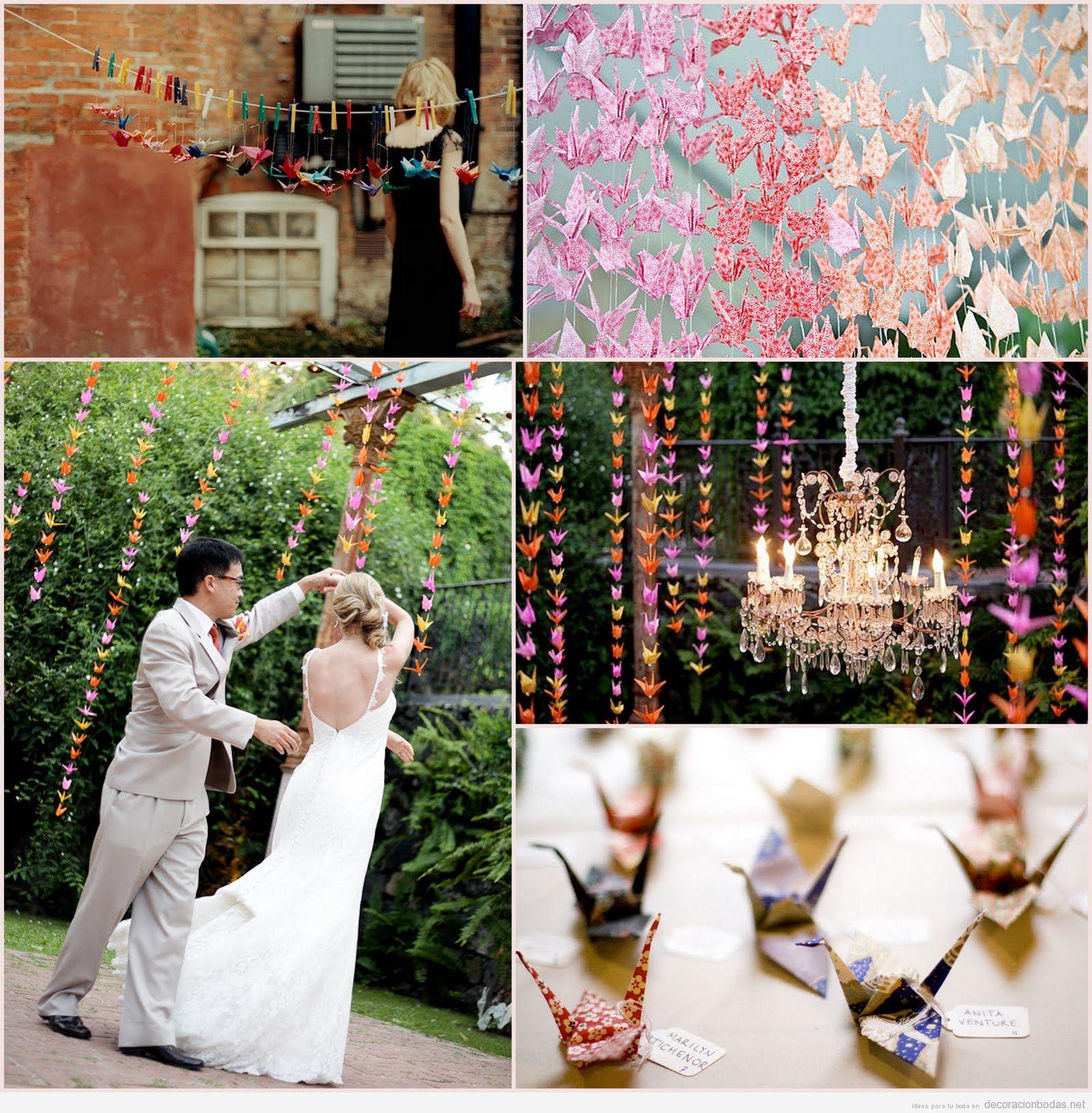 Decoracion Original Para Bodas ~   de papel que vuelan, una idea DIY y original para decorar una boda
