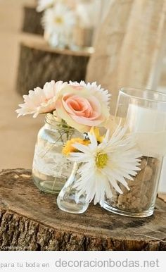 Idea para decorar una boda de estilo rústico y campestre