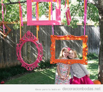 Ideas originales photocall jard n decoraci n bodas for Ideas para boda en jardin