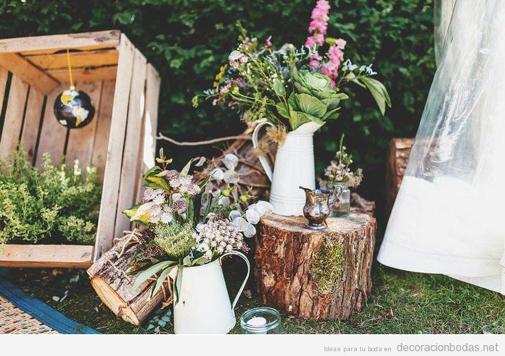 Ideas para decorar una boda en el jardín estilo natural y vintage