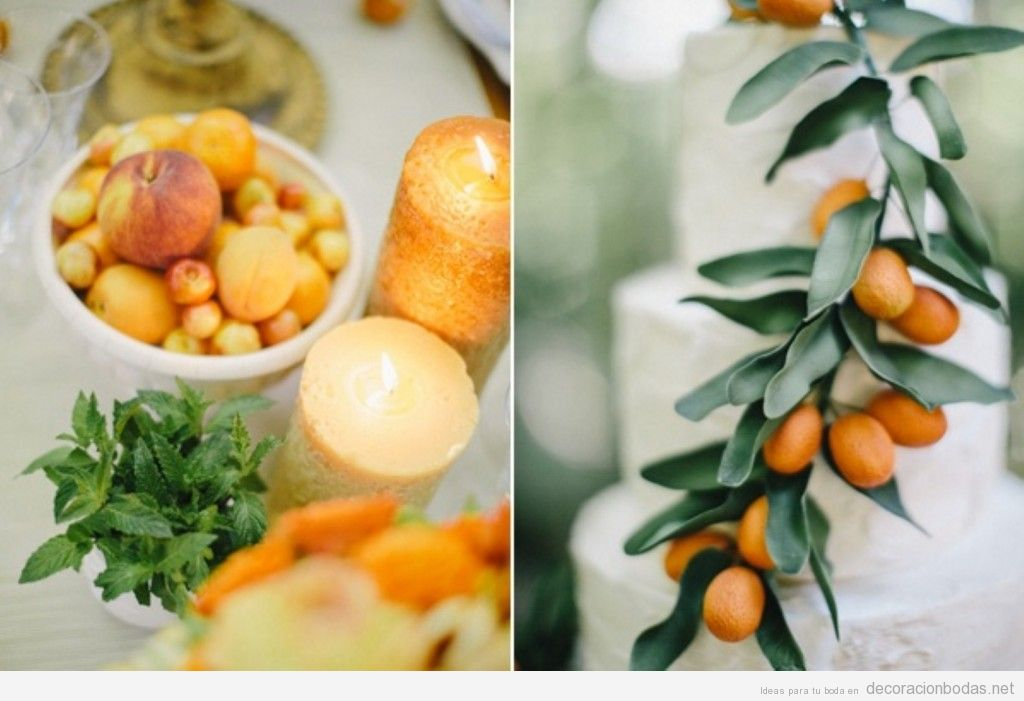 Idea spara decorar una boda con frutas