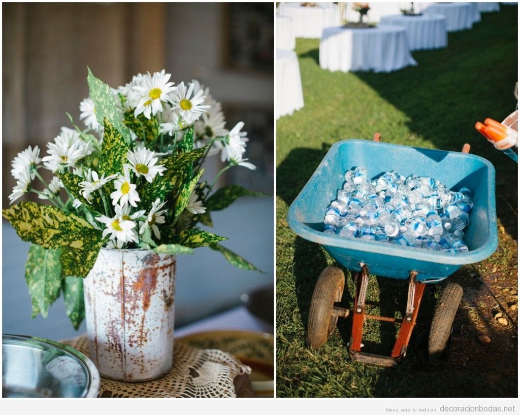 Campestre decoraci n bodas decoraci n de bodas bohemias - Como decorar un jardin rustico ...