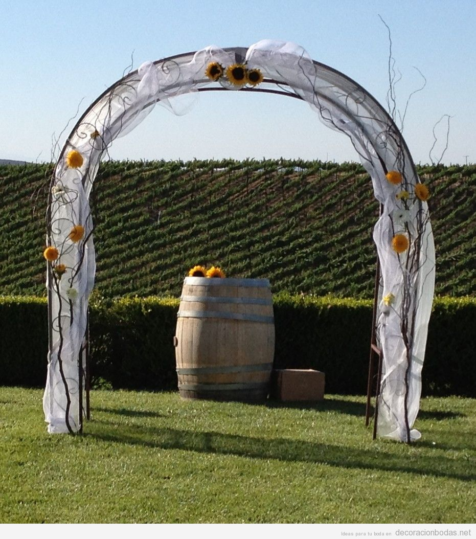 Altar decoraci n bodas part 2 ideas originales para for Arco decorativo jardin