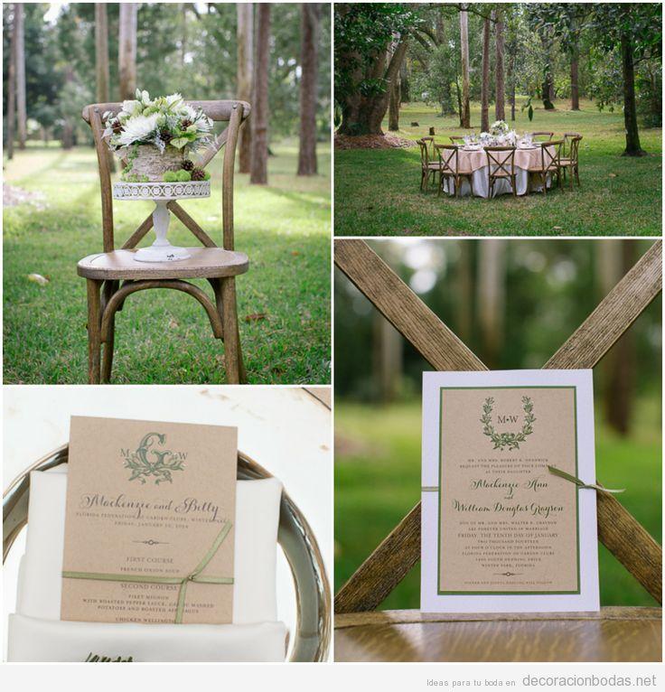 Ideas para decorar mesa de boda en el jardín