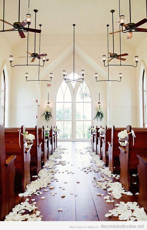 Idea para decorar una iglesia para una boda