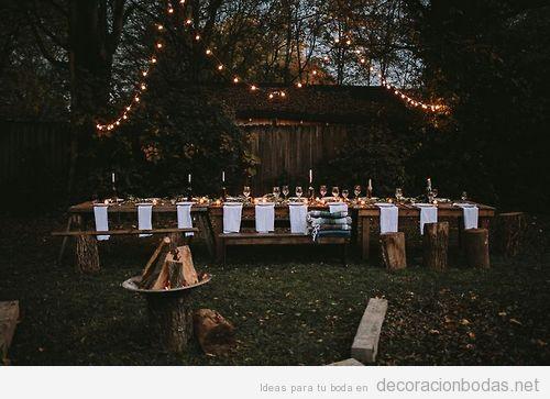 Noche decoraci n bodas decoraci n de bodas bohemias for Boda en un jardin de noche
