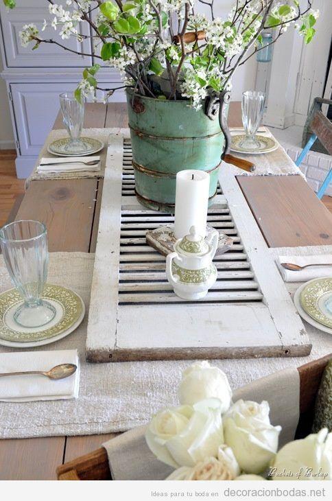 Ideas decoración mesa de boda estilo rústico y chic