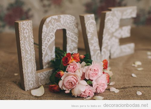 Decoracion Letras Carton ~ Manualidades DIY  Decoraci?n bodas  Todo para decorar con ideas