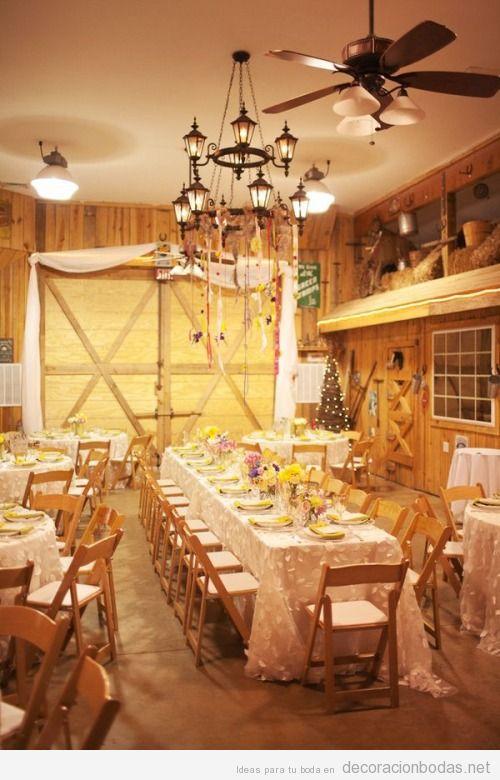 Ideas para decorar una boda boda en un granero
