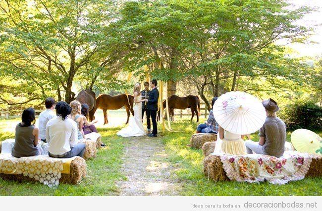 Decoración ceremonia de boda en el campo