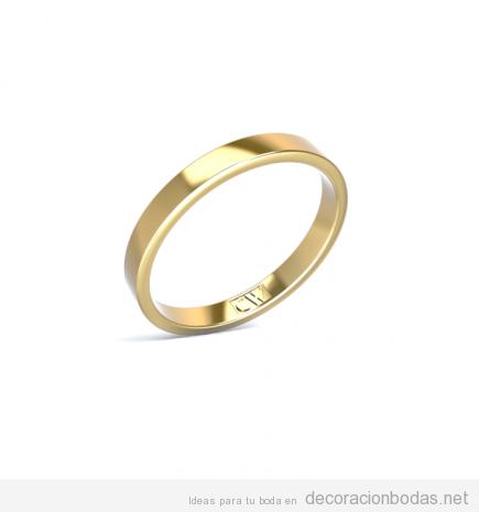 Alianza boda en oro