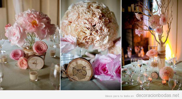 Flores filtro de café para centro de mesa de boda