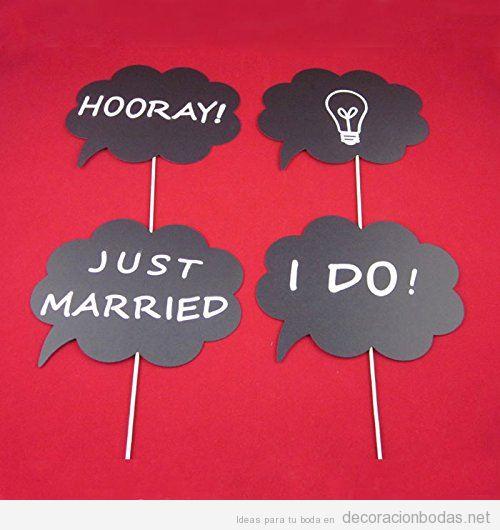 Comprar online pizarras con mensaje para photocall de boda