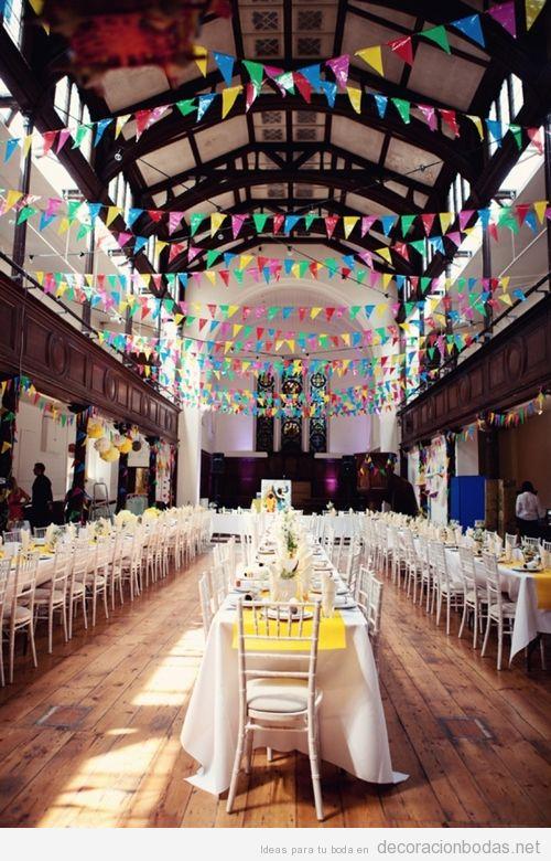 Una iglesia como salón donde celebrar el banquete de boda