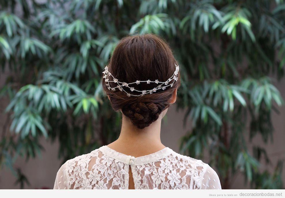 Tocados novia elegantes y sencillos