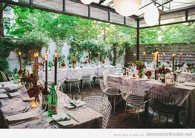 Jardines y aire libre decoraci n bodas todo para for Decorar terraza patio interior