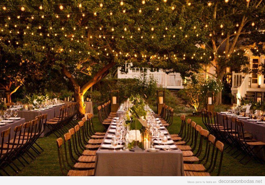 Decoraciones de bodas en jardines de noche - Decoraciones de jardin ...