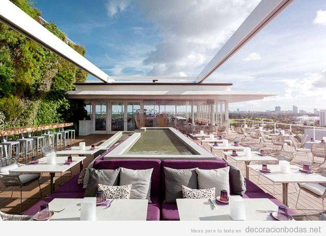 Diseno exterior restaurante minimalista terraza for Disenos de terrazas exteriores