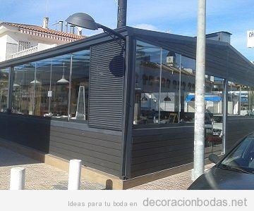 Techo terraza móvil bar