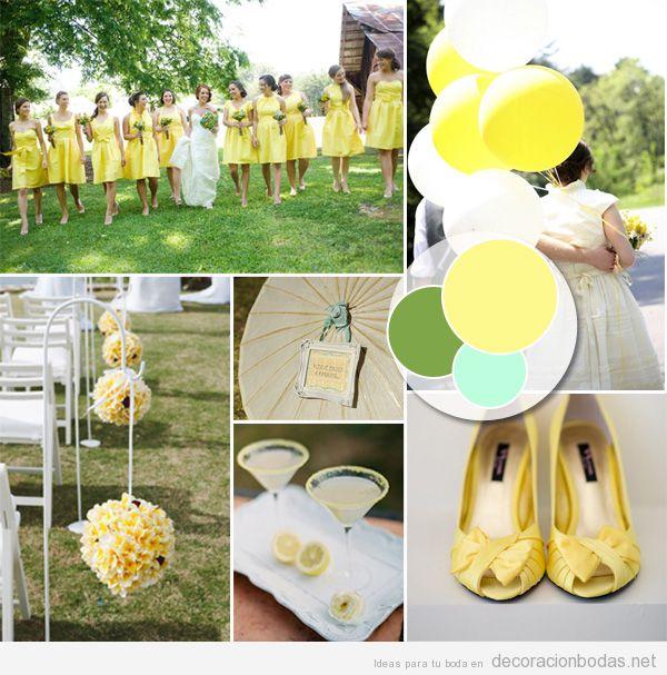 Ideas para decorar con detalles amarillo pastel una boda - Decoracion de bodas originales ...