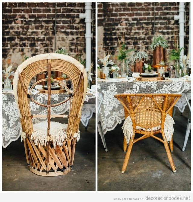 Boda r stica decoraci n bodas decoraci n de bodas bohemias - Mesas de mimbre ...