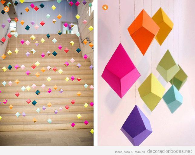 Ideas para decorar una boda de forma bonita y original - Cortinas de papel para navidad ...