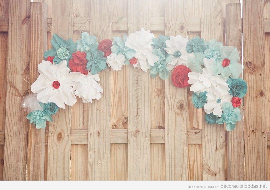 Manualidades de papel para decorar una boda decoraci n for Papel de pared para salon