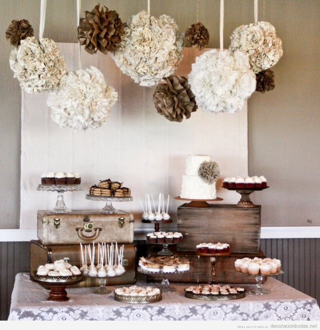 Decoraci n de postres para bodas de estilo vintage - Decoracion para bodas de plata ...