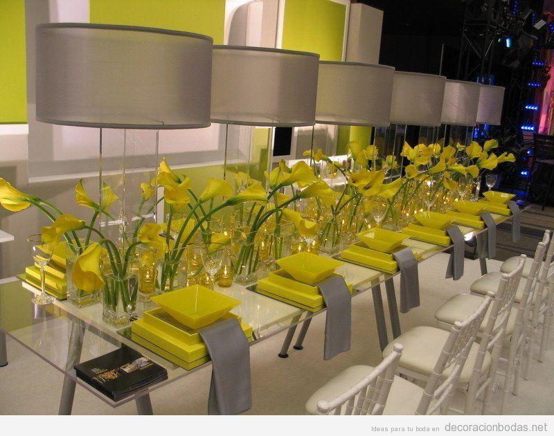 Decoración moderna de mesas para bodas