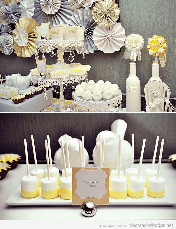 Decoraci n de boda estilo rom ntico en amarillo pastel y - Decoracion de salones estilo romantico ...