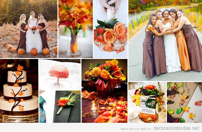 decoración de boda muy otoñal • decoración bodas
