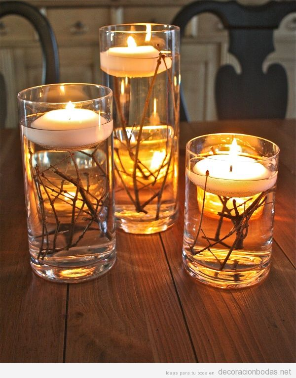 Agua archivos decoraci n bodas - Velas centro de mesa ...