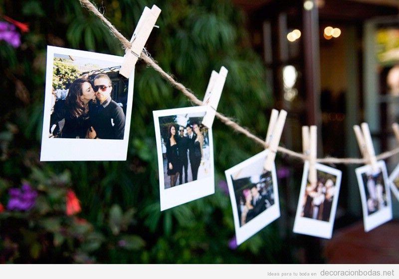 hazlo tu mismo idea original decoracin boda jardn con fotos polaroid