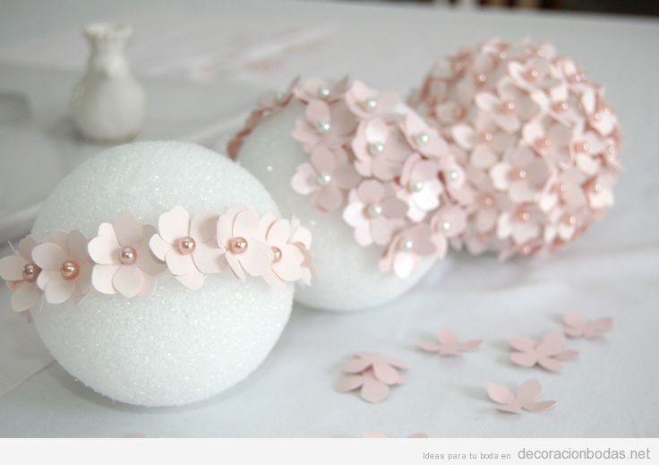 Manualidades para decoración de bodas, esfera de flores DiY paso a paso