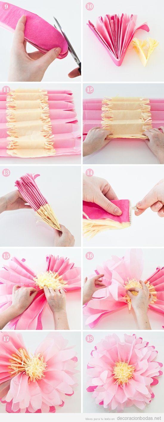 tutorial paso a paso flor de seda para decorar una boda