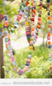 Guirlanda de papel DIY para decorar bodas