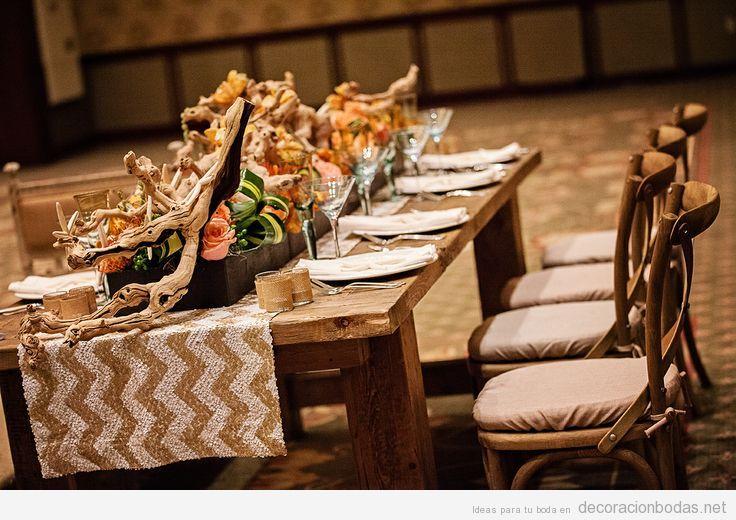 ideas para decorar una mesa de boda estilo rstico y chic
