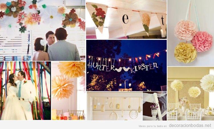 Ideas para decorar una boda vintage con manualidades y for Decoracion de hogar barata
