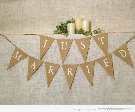 Guirnalda «Recién casados», manualidad para decorar una boda